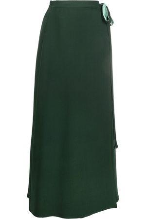 VALENTINO Silk wrap midi skirt
