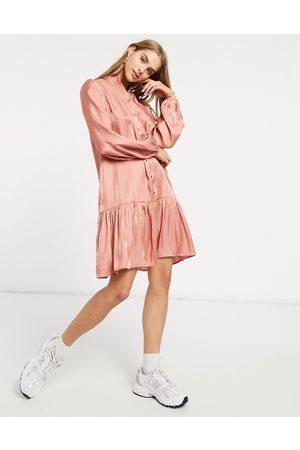 Y.A.S Peachy long sleeve mini dress in