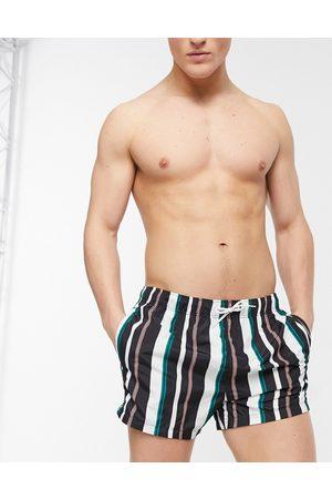 River Island Swim shorts with stripe in