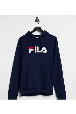 Fila Large front logo oversized hoodie in navy Exclusive to ASOS