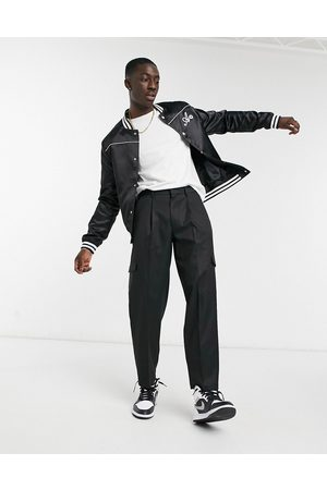 ASOS Cargo oversized tapered smart pants in