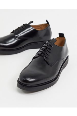 H by Hudson Calverston lace up shoes in high shine leather