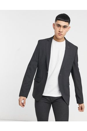 Bolongaro Plain skinny suit jacket in -Grey