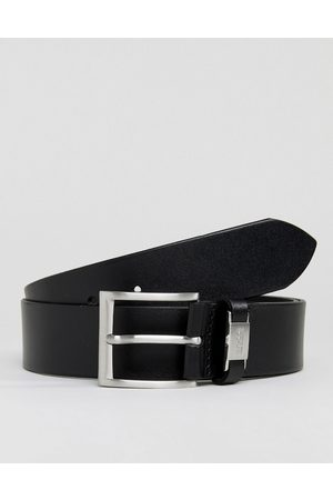 HUGO BOSS Connio leather logo keeper belt in