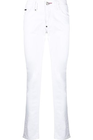 Philipp Plein Men Slim - Slim-cut embroidered logo jeans