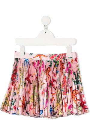 VERSACE Girls Printed Skirts - Baroque sea creature-print skirt