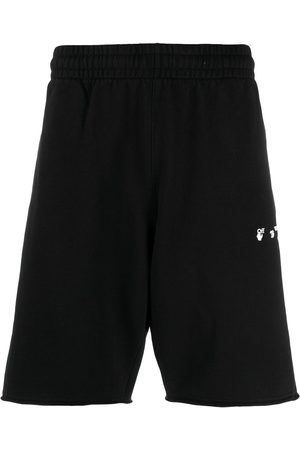 OFF-WHITE Logo-print knee-length track shorts