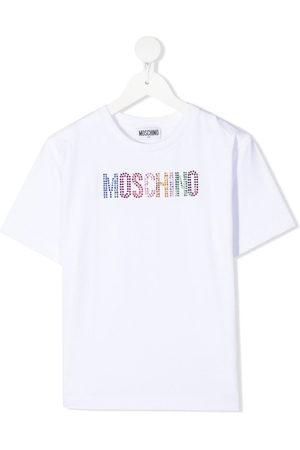 Moschino Rhinestone logo short-sleeved T-shirt