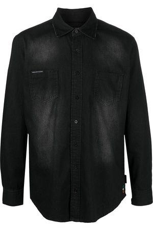 Philipp Plein Button-down denim shirt