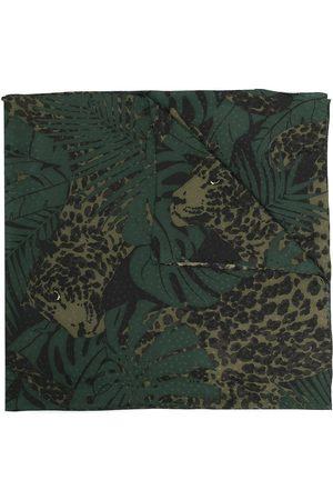 Saint Laurent Botanical leopard print scarf