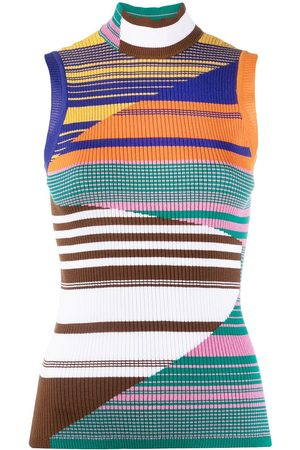 Missoni Sleeveless stripe-pattern knit top