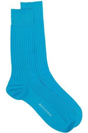 MACKINTOSH Logo ribbed socks