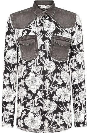Dolce & Gabbana Floral-print panelled shirt