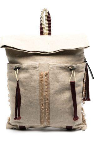 Camper Lab Large fringed trim backpack - Neutrals