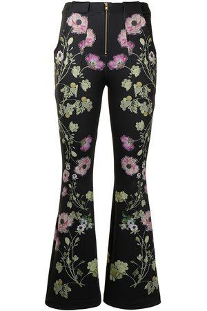 Cynthia Rowley Hunter floral-print trousers