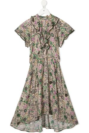 Zadig & Voltaire Paisley-print ruffled dress - Neutrals