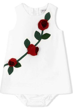Dolce & Gabbana Rose appliqué tank top - HR2QF CAMOUFLAGE F.BORDEAU