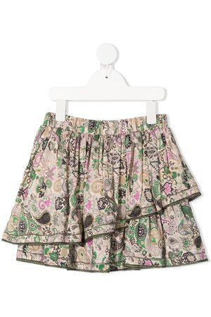 Zadig & Voltaire Paisley print ruffle skirt - Neutrals