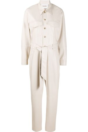 Nanushka Ashton belted jumpsuit - Neutrals