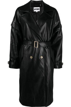 Apparis Natalia double-breasted belted coat