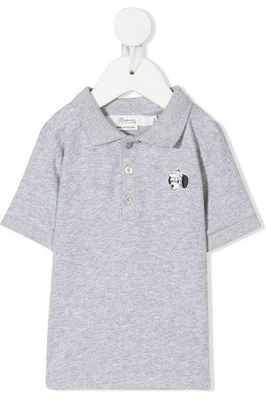 BONPOINT Dog badge polo shirt - Grey