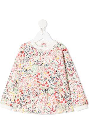 BONPOINT Floral peplum sweatshirt - Neutrals