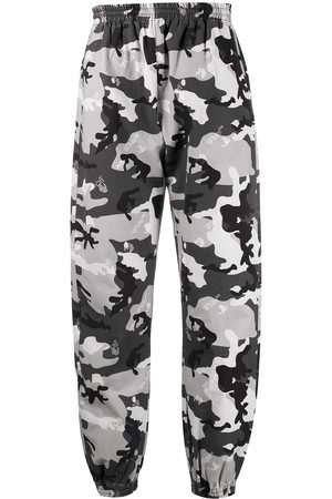 OFF-WHITE Camouflage print trousers - Grey
