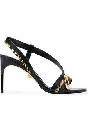VERSACE Safety pin stiletto sandals