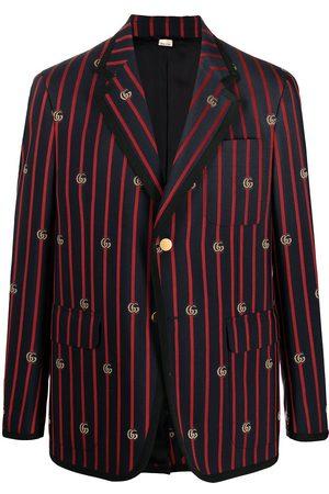 Gucci Men Blazers - GG striped wool blazer