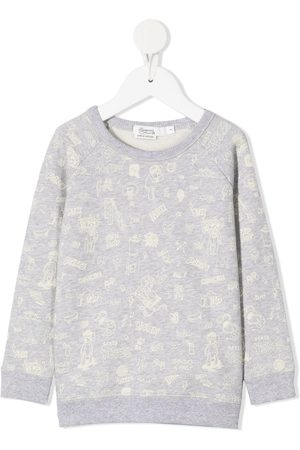 BONPOINT All-over print sweatshirt - Grey