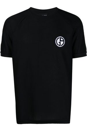 Armani Logo patch short-sleeved T-shirt