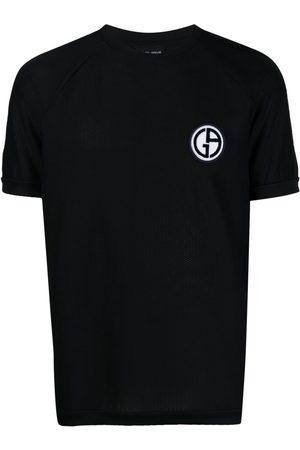 Armani Men Short Sleeve - Logo patch short-sleeved T-shirt