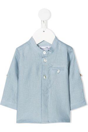 Tartine Et Chocolat Band-collar linen shirt