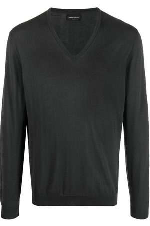 Roberto Collina V-neck cotton jumper - Grey