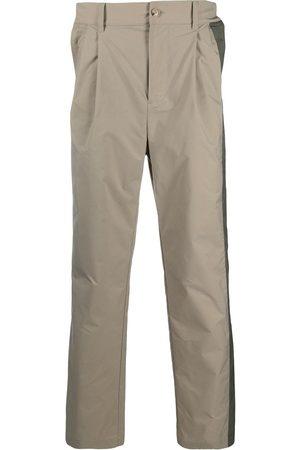 Feng Chen Wang Pleat-detail straight-leg trousers - Neutrals