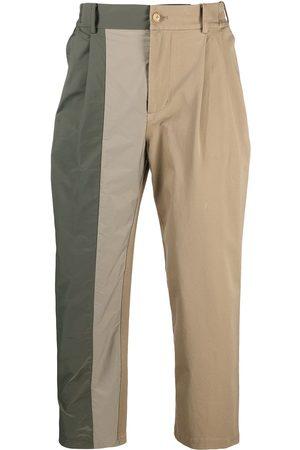 Feng Chen Wang Asymmetric panel chino trousers - Neutrals