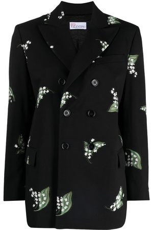 RED Valentino Embroidered double-breasted blazer