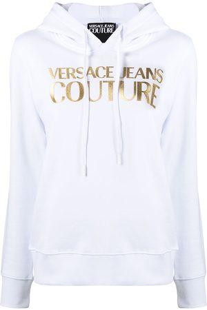 VERSACE Foil logo print hoodie