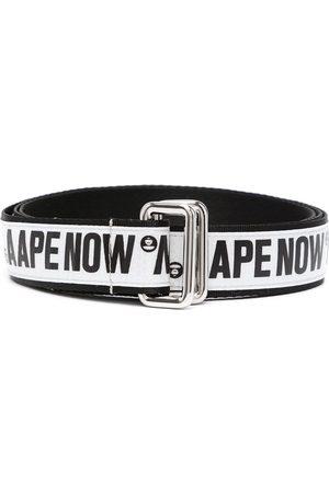 AAPE BY A BATHING APE Logo tape D-ring buckle belt