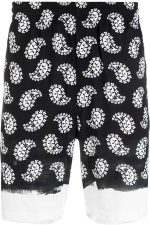 Msgm Paisley-print knee-length shorts