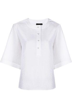 Emporio Armani Half-sleeve button-up blouse