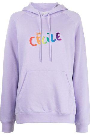 Être Cécile Logo print hoodie