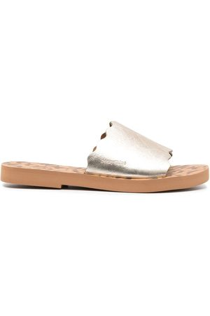 See by Chloé Metallic slip-on flat sandals