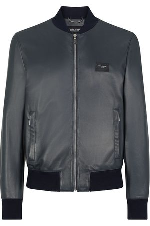 Dolce & Gabbana Lambskin leather bomber jacket