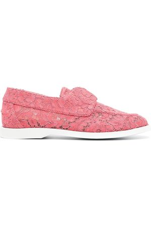 LE SILLA Claire floral lace loafers