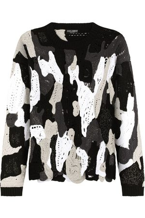 Dolce & Gabbana Camouflage knitted panelled jumper