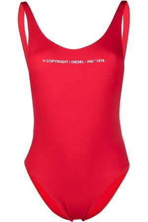 Diesel Slogan-print swimsuit