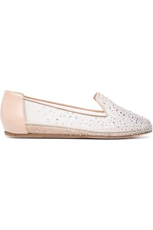 LE SILLA Nicole crystal-embellished slippers - Neutrals