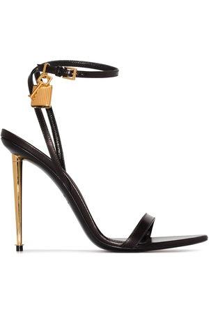 Tom Ford Padlock 105mm metallic heel sandals