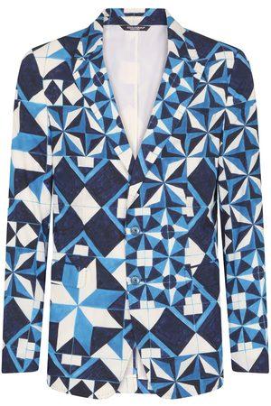 Dolce & Gabbana Geometric-print blazer